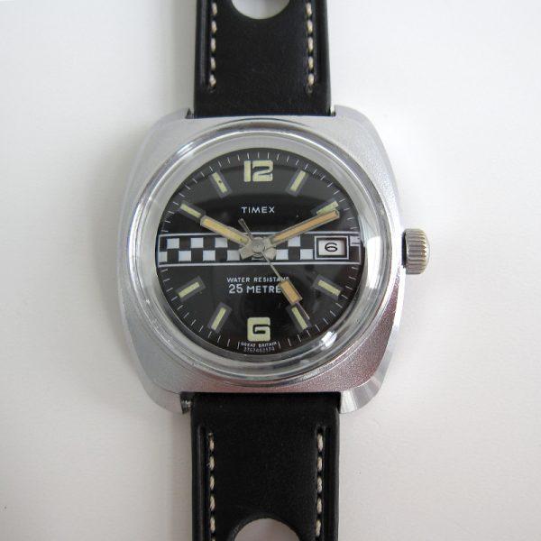 timexman.nl Timex Marlin Calendar 1974 Chequered Flag